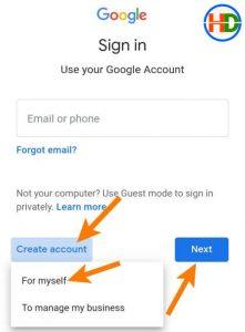 Create new gmail account1